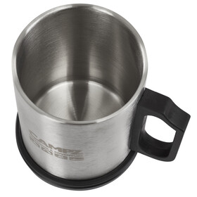 CAMPZ Steel Thermo Mug - Recipientes para bebidas - 400ml gris/negro